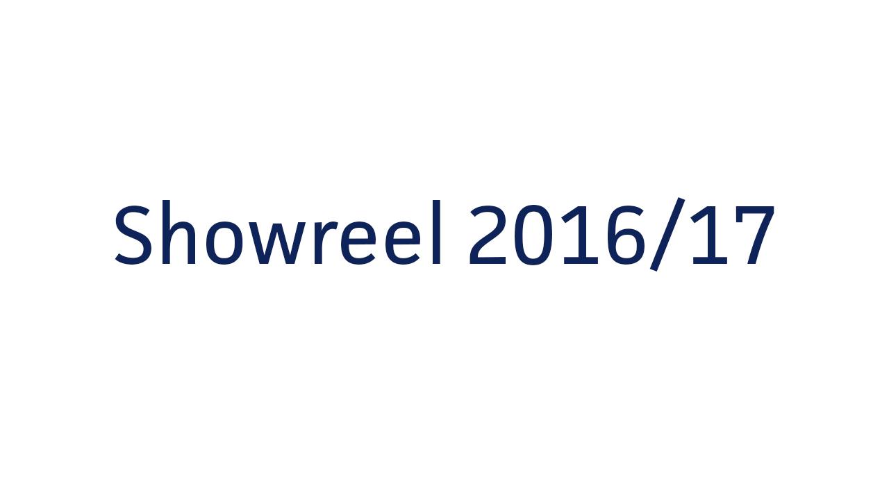 Showreel 2016/17
